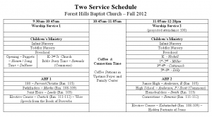 Two service schedule starts 9/16!