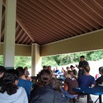 Pastor Jeff speaking at the Annual Church Picnic