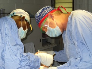 Todd DeKryger in surgery