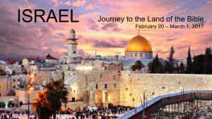 Israel Trip, February 2017